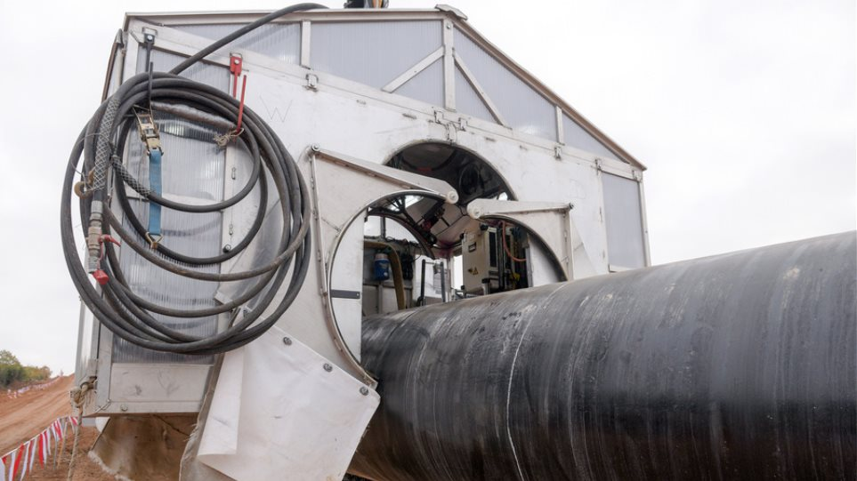 Αγωγός φυσικού αερίου TAP: Ολοκληρώθηκε η κατασκευή του ελληνικού τμήματος