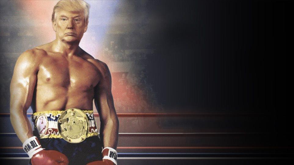 «Τρέλανε» το Twitter ο Donald Trump - Ανέβασε φωτογραφία του ως άλλος Ρόκι Μπαλμπόα!