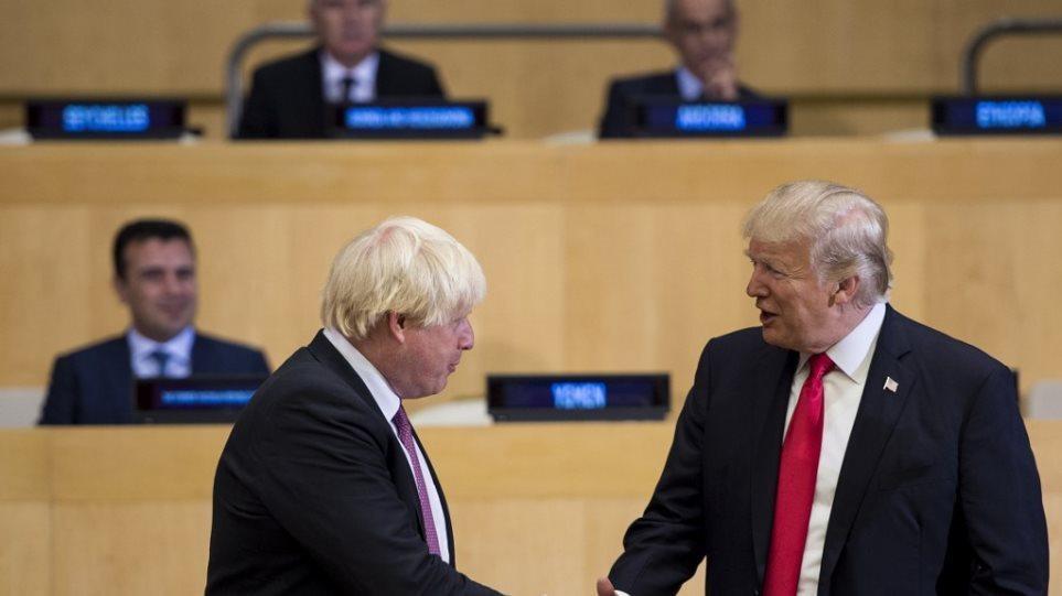 Τζόνσον σε Τραμπ: Σε παρακαλώ, μείνε μακριά από τις βρετανικές εκλογές