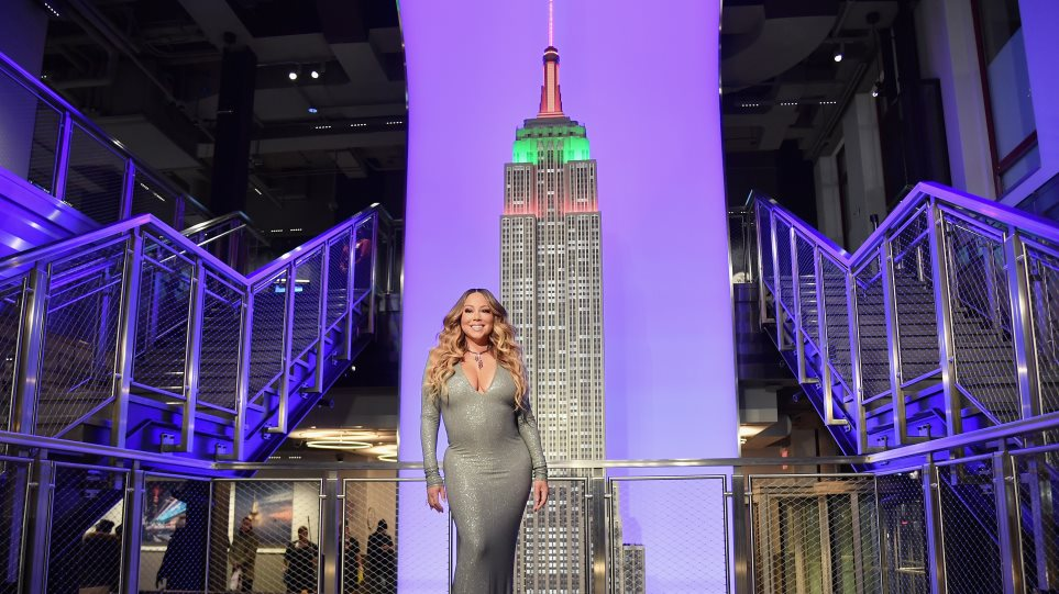 H Μαράια Κάρεϊ φωταγώγησε το Empire State Building στη Νέα Υόρκη! (ΦΩΤΟ-VIDEO)