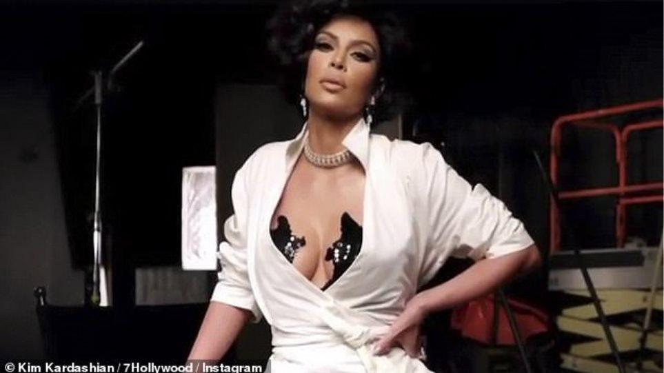Η Kim Kardashian φωτογραφίζεται αλά Ελίζαμπεθ Τέιλορ! (ΦΩΤΟ-VIDEO)