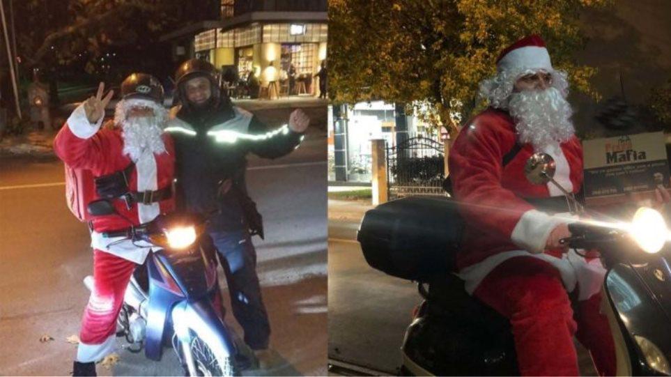 Στη Λάρισα ο Άγιος Βασίλης κάνει… ντελίβερι - Η συγκινητική πρωτοβουλία ενός διανομέα