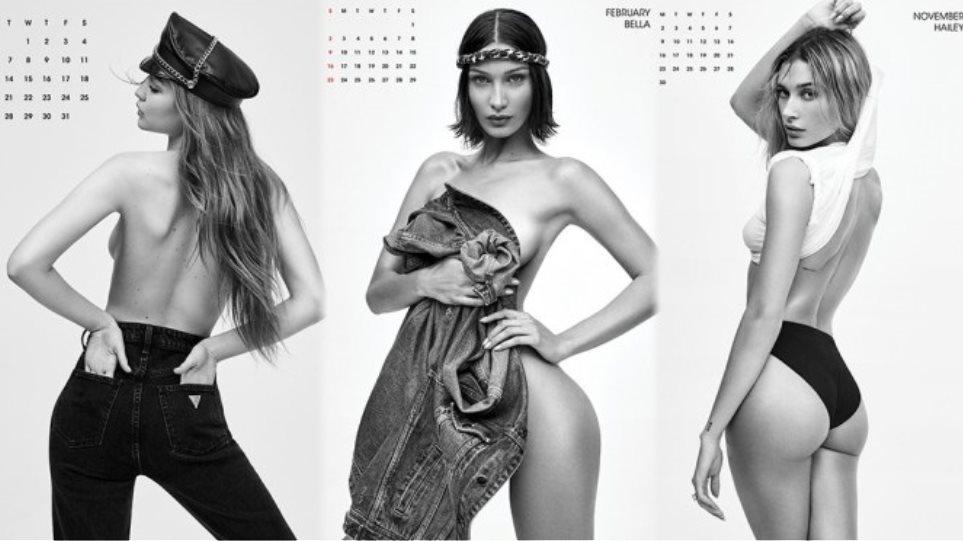 Κορυφαία μοντέλα σε ημίγυμνες πόζες στο πιο σέξι ημερολόγιο του 2020 (VIDEO)