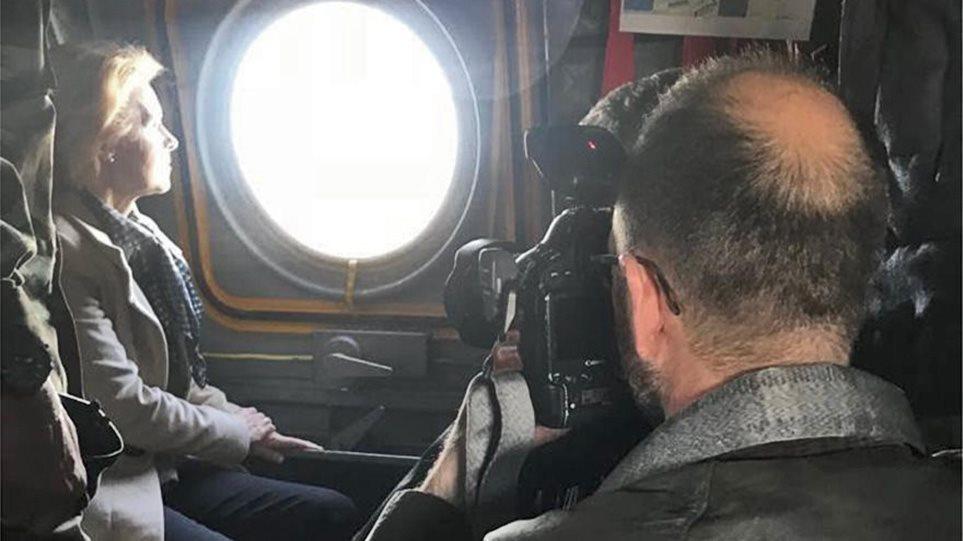 Στον Έβρο η ηγεσία της ΕΕ για αυτοψία - Δείτε φωτογραφίες μέσα από το ελικόπτερο