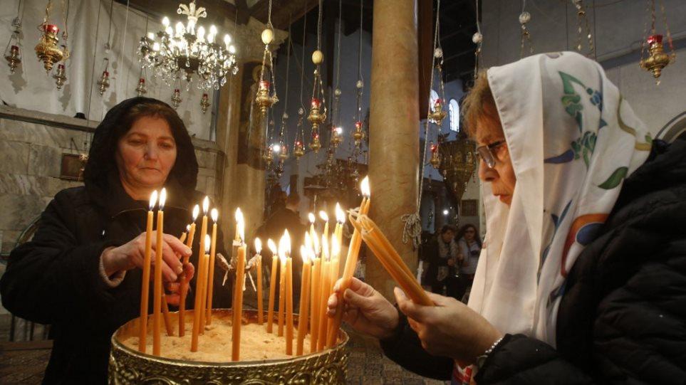 Αποτέλεσμα εικόνας για Ο κορωνοϊός κλείνει την Βασιλική της Γεννήσεως στη Βηθλεέμ