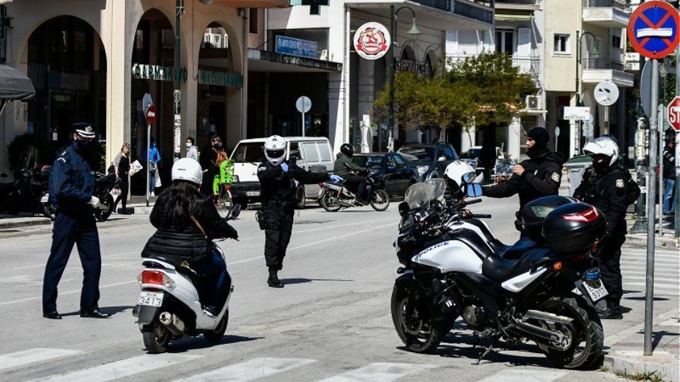Απαγόρευση κυκλοφορίας: Σε 1.631 οι παραβάσεις και 8 οι συλλήψεις