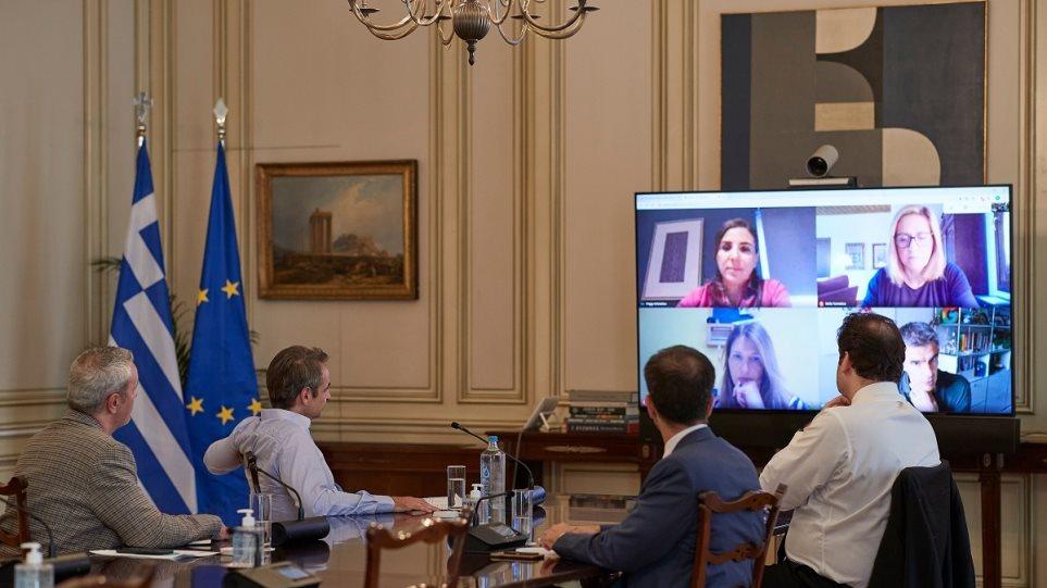 Τηλεδιάσκεψη Μητσοτάκη με τον πρόεδρο της Google Ευρώπης: Πολιτισμός και αγορά εργασίας στο προσκήνιο