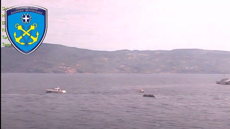 Βίντεο ντοκουμέντο: Τρεις τουρκικές ακταιωροί συνόδευαν βάρκα με μετανάστες στα ελληνικά χωρικά ύδατα!