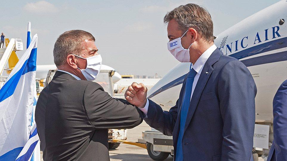 mitsotakis-israel-aeroplano-arthro