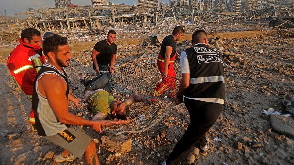 Έκρηξη στη Βηρυτό: Πληροφορίες για δύο Έλληνες τραυματίες