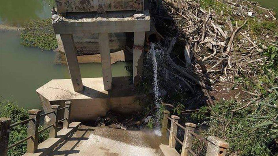 Κατέρρευσε τμήμα γέφυρας στον Αγγίτη(ΦΩΤΟ)