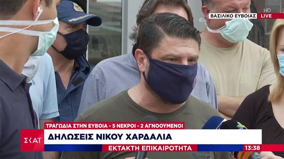 Χαρδαλιάς από Εύβοια: Έχουμε 5 νεκρούς και 2 αγνοούμενους από τις πλημμύρες
