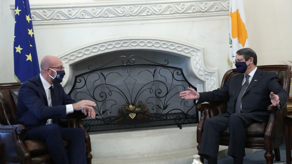 Σαρλ Μισέλ: Αλληλεγγύη σε Κύπρο και Ελλάδα με πράξεις και όχι με λόγια