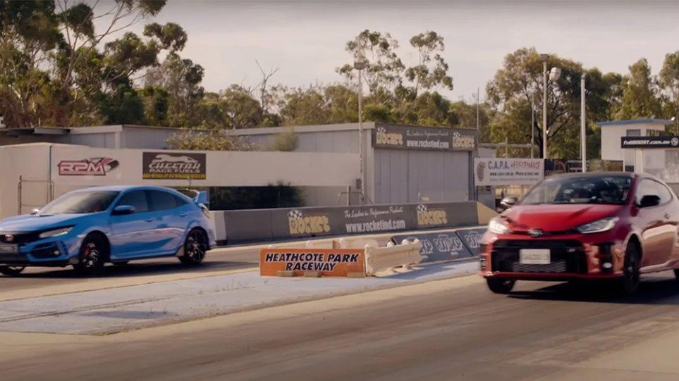 Toyota-gr-yaris-vs-honda-civic-Type-R