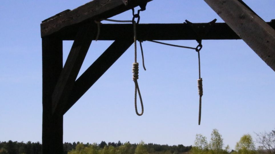 Hanging-Gallows-Against-Sky