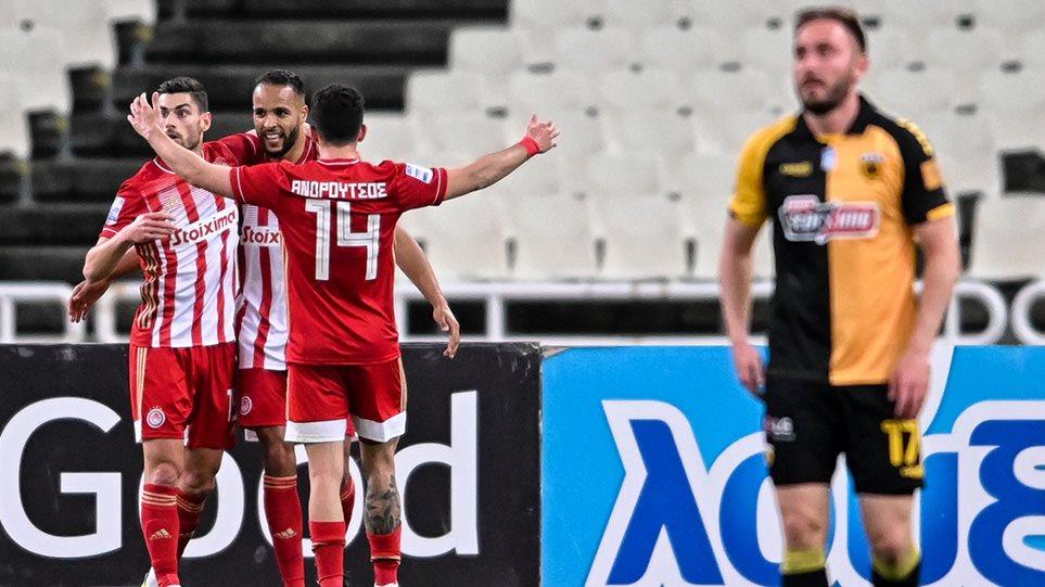 Super League 1 play off, AEK – Oλυμπιακός 1-5: Tην «σκόρπισε» Θρύλος 5 αστέρων! – Δείτε τα γκολ
