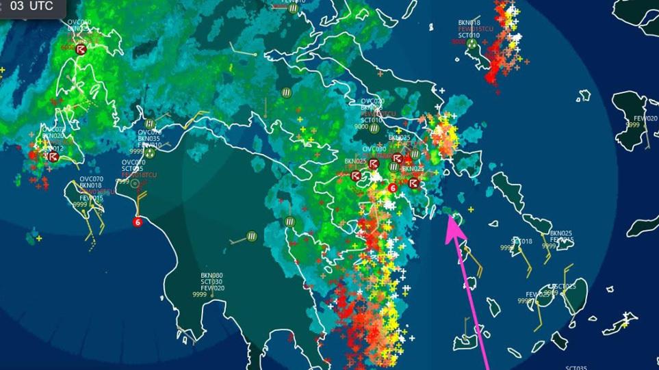 Κακοκαιρία «Μπάλλος»: Ισχυρές βροχές, καταιγίδες και άνεμοι τις επόμενες  ώρες σε όλη τη χώρα