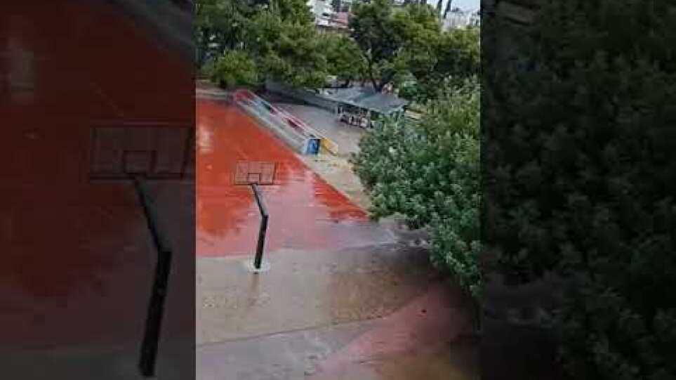 Νέα Φιλαδέλφεια γυμνάσιο πλημμύρα 14/10/2021