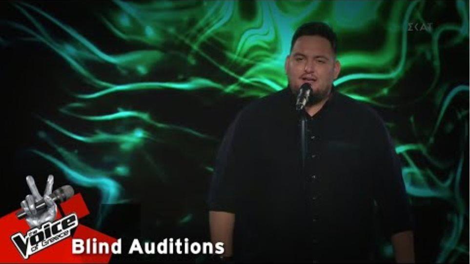 Νίκος Νταλάκας - Δυο Ψέματα   2o Blind Audition   The Voice of Greece