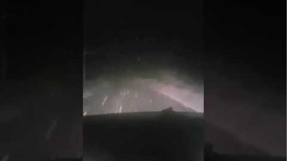 Χιονόπτωση στσ ριζά του Κόζιακα