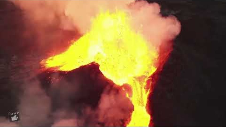 Εκπληκτικό timelapse ηφαιστείου στην Ισλανδία από drone