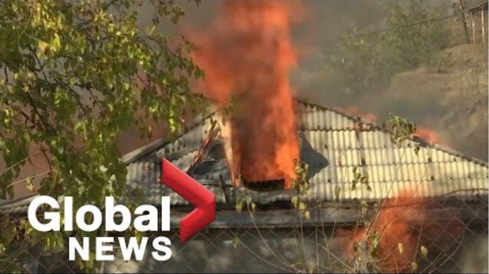 Σύγκρουση Ναγκόρνο-Καραμπάχ: Αρμένιοι καίνε τα σπίτια τους πριν παραδώσουν εδάφη στο Αζερμπαϊτζάν