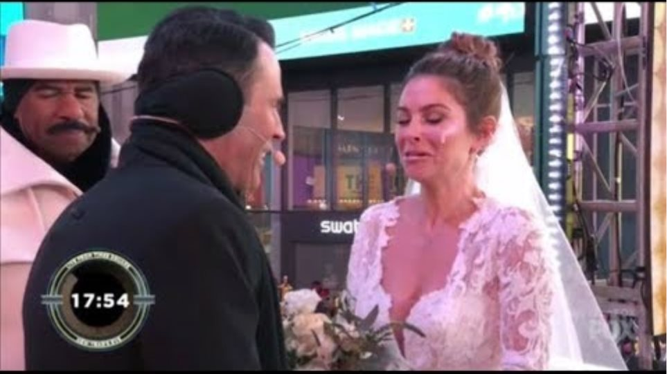 Maria Monounos Rocks The COLDEST Wedding In History On LIVE TV By Steve Harvey in Time Sq. #NYE2018
