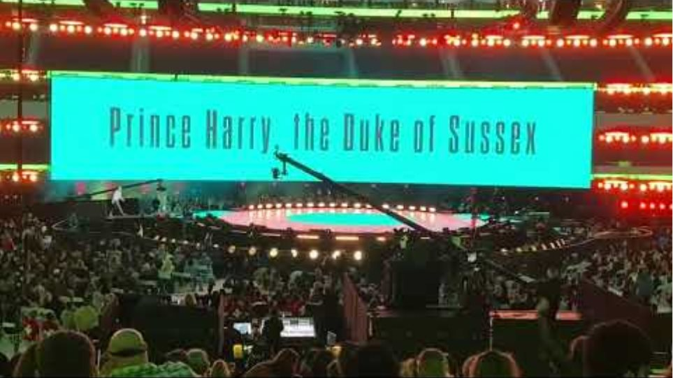 Prince Harry audience reaction to his entrance at Vax Live and Prince Harry's speech at Vax Live