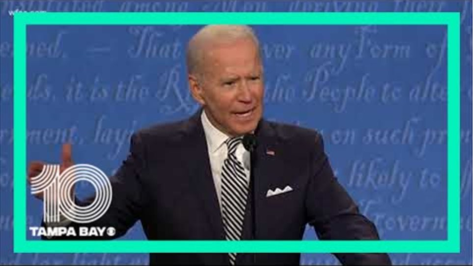 'Everybody knows he's a liar': Biden says of Trump in first debate