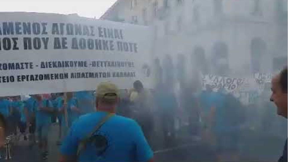 Διαμαρτυρία ΓΣΕΕ και ΕΚΘ