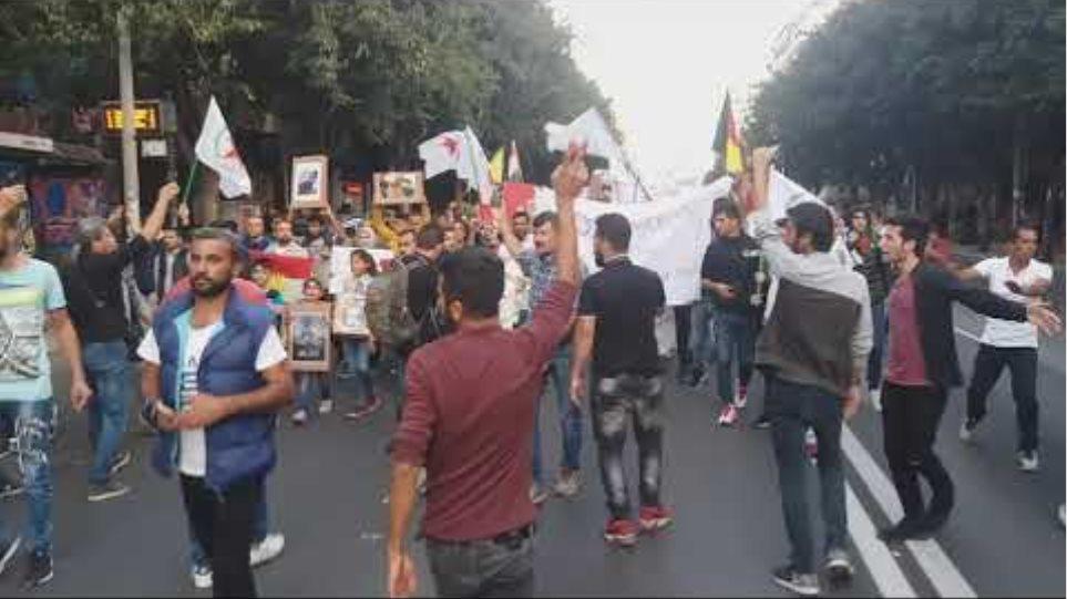 Πορεία στη Θεσσαλονίκη κατά της τουρκικής εισβολής στη Συρία - Voria.gr