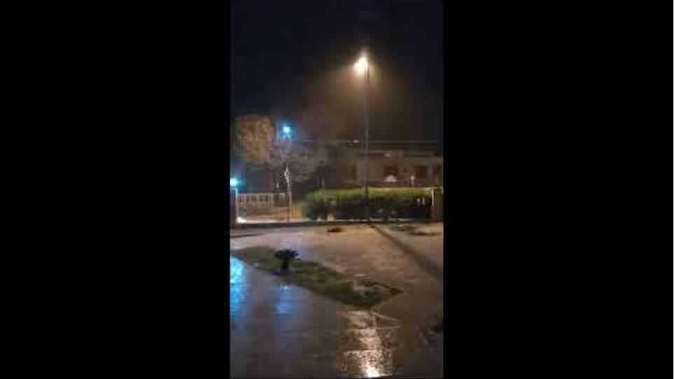 Κινέτα - Υπερχείλισε το ρέμα της Πίκας