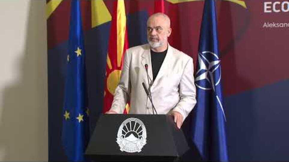 Изјави за медиуми на премиерот Зоран Заев и премиерот Еди Рама