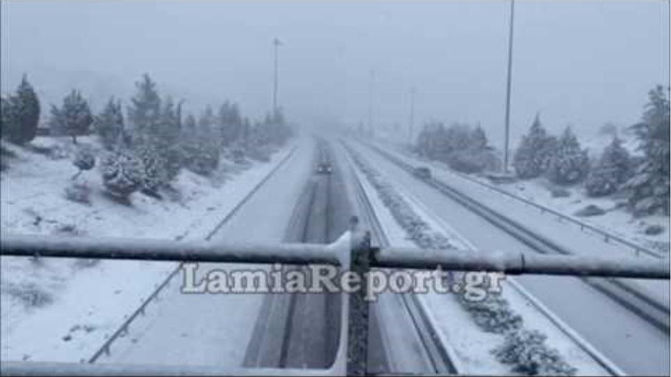 LamiaReport.gr: Χιονόπτωση στο Μαρτίνο 30-12-19