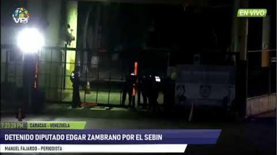 EN VIVO - Detenido Diputado Edgar Zambrano por el SEBIN