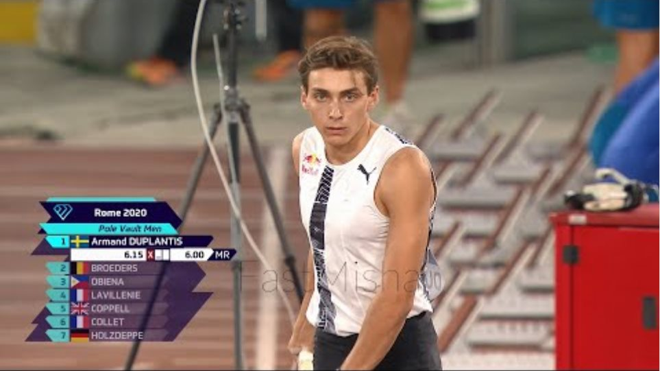 Armand Duplantis 6.15m Outdoor Pole Vault World Record | Rome 2020 | Best Quality