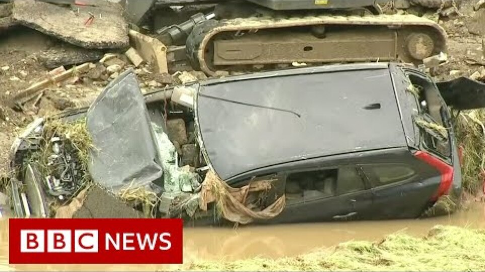 How have dozens died in flooding in Germany? - BBC News