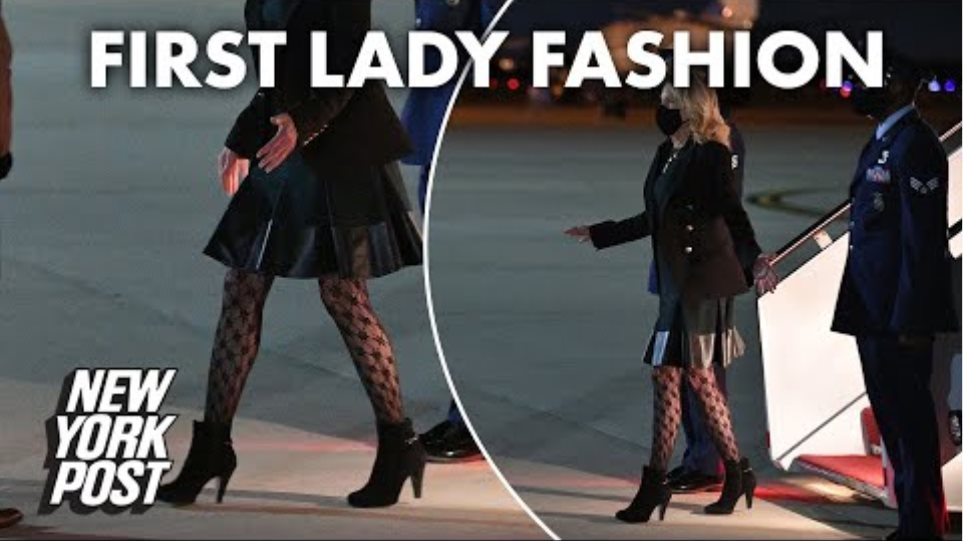 Jill Biden's fishnet stockings are receiving mixed reactions | New York Post