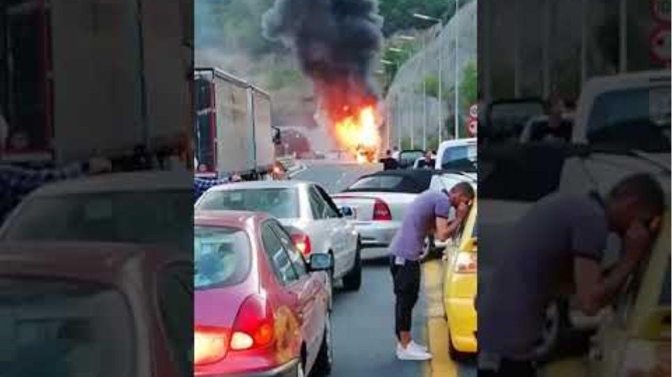 Λεωφορείο φωτιά Εγνατία-7 Αυγούστου 2019