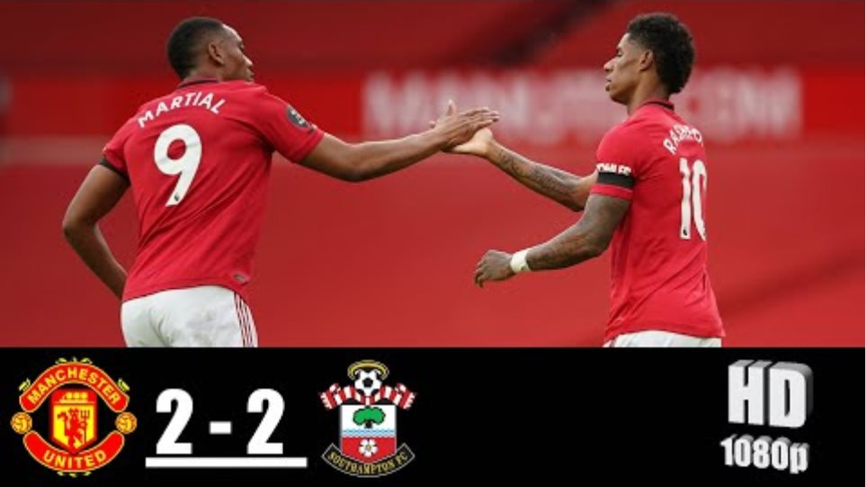 Manchester United vs Southampton 2-2 All Goals & Highlights 13/07/2020