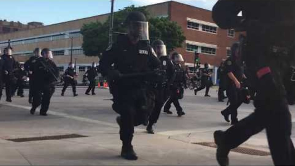 Milwaukee Police Firing Tear Gas Into Peaceful Protesters - After Corralling Them From All Sides