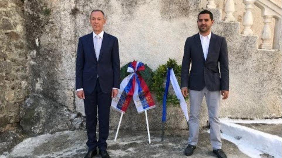 Στεφάνι στην οικία του Ιωάννη Καποδίστρια για τη συμπλήρωση 190 ετών ελληνορωσικών σχέσεων