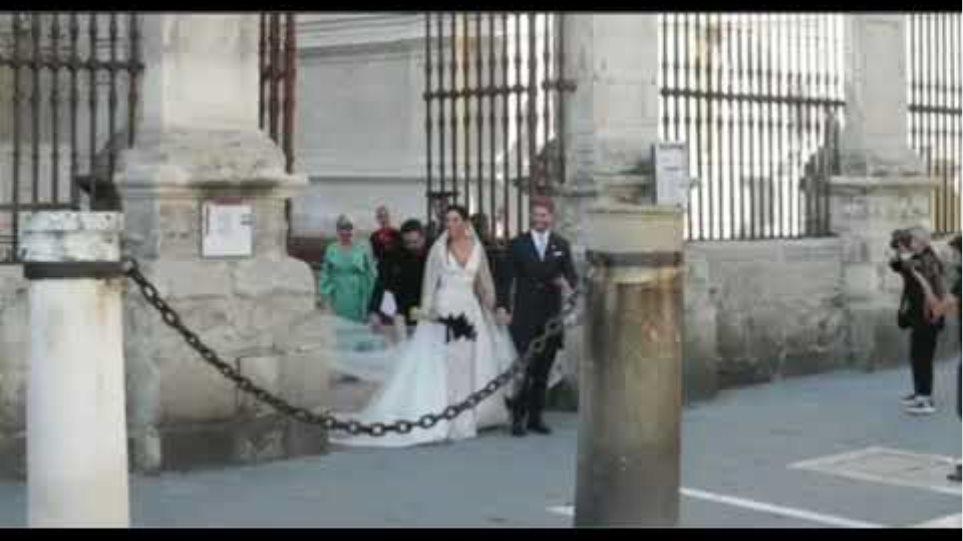 Men koman ramos tap fel apre Ceremony mariage li
