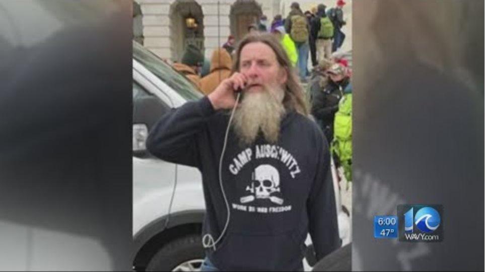 Capitol rioter in 'Camp Auschwitz' sweatshirt identified as Hampton Roads man