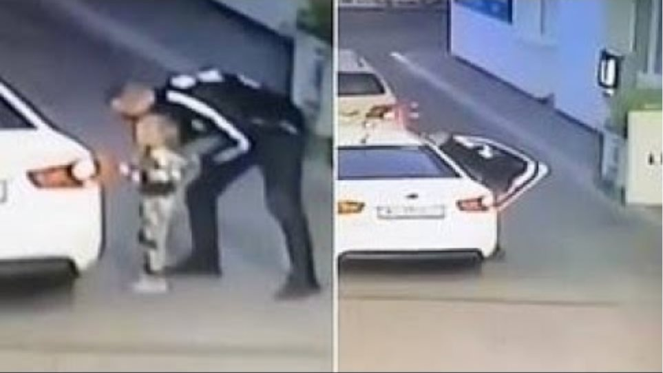 Girl, four, is lured into a car and abducted at a petrol station in Ukraine while her mother was pay