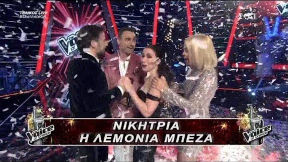 Η Λεμονια Μπεζα νικητρια του The Voice..20/12/2018
