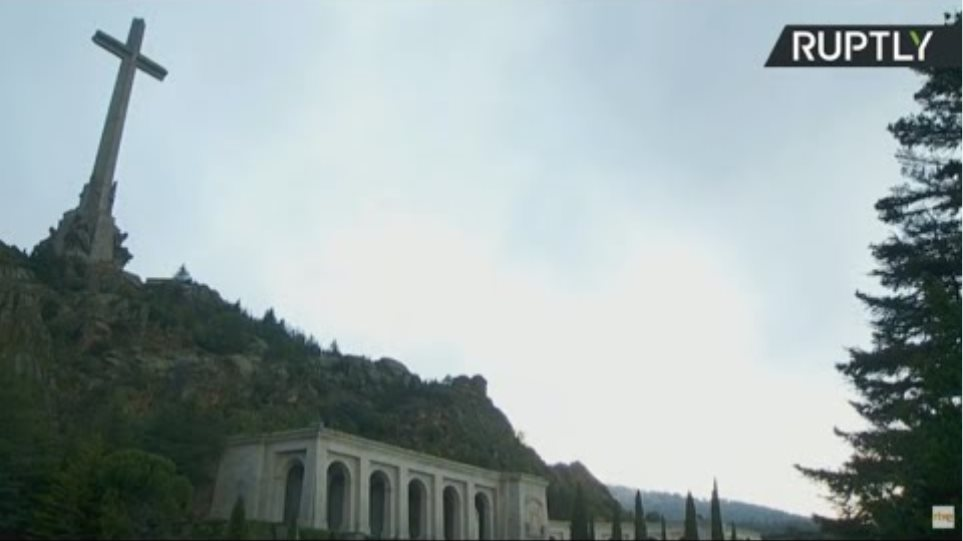 Exhumation of Francisco Franco's remains takes place at Valley of the Fallen