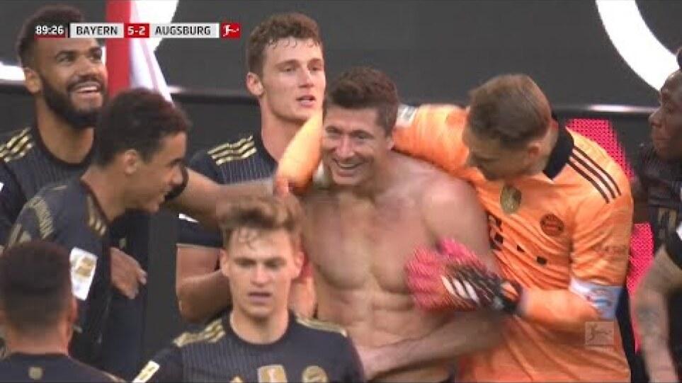 Bundesliga | Lewandowski Breaks Gerd Muller's Record - Bayern vs Augsburg