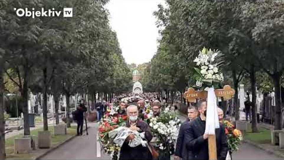 Povorka i porodična grobnica na sahrani Dude Ivkovića