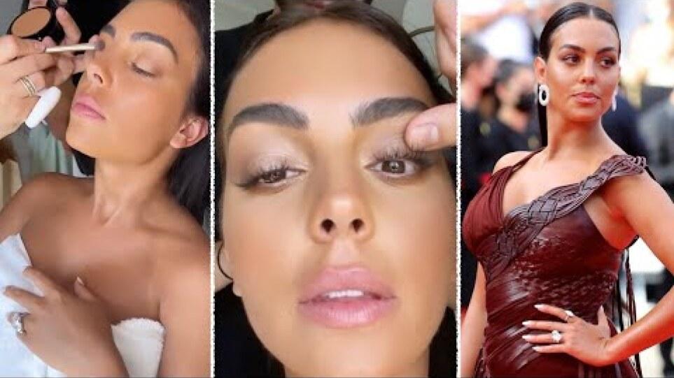 Georgina Rodriguez Ronaldo makeup for 74 Cannes Film Festival 2021